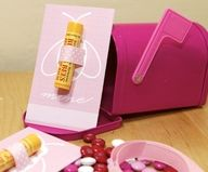 """Treat your friends and officemates to a """"Bee Mine"""" valentine of your own, complete with a beeswax lipbalm. Just cut two small slits and slide a piece of ribbon through to secure the lip balm in place. Use a bit of double stick tape on the lip balm if it slips."""