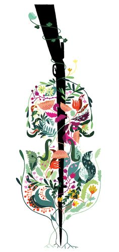 This art shows a correlation of the war and a cello as in 'The Cellist of Sarajevo' written by Steven Galloway. The cellist played an Adagio every day at 4pm for 22 days in respect for the 22 people who had fallen from a shell while getting bread.