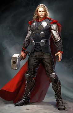 """Concept art of Thor the Odin-Son from the titular """"Thor"""" (2011) by Ryan Meinerding."""