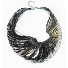 Oh+necklace+by+Ware Hard to believe this is made with recycled bicycle tires...