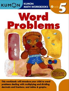 Word Problems (Kumon Math Workbooks Grade 5): Kumon Publishing, Eno Sarris: 9781934968383: Amazon.com: Books