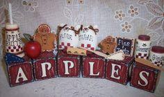 Apple of My Eye Cottage Apple Kitchen Decor, Kitchen Themes, Apple Farm, Apple Orchard, Wood Ideas, Diy Ideas, Apple Crafts, Apple Decorations, Apple Theme