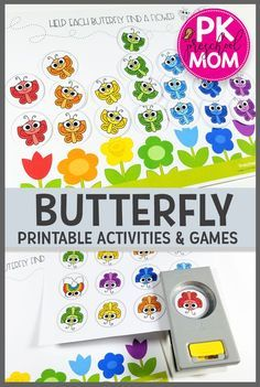 Free Butterfly Printable Activities from Preschool Mom. This set of Printable Butterfly activities and games is perfect for your preschool students. Students work on counting matching patterns sequencing math color recognition and more! Preschool Colors, Preschool Themes, Preschool Printables, Preschool Lessons, Preschool Learning, In Kindergarten, Bug Activities, Preschool Activities, File Folder Activities