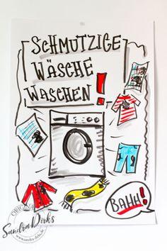 Mini - Flipchartkurs: Schmutzige Wäsche waschen https://sandra-dirks.de/mini-flipchartkurs-schmutzige-waesche-waschen/