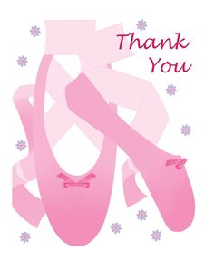 #Ballet birthday party thank you notes
