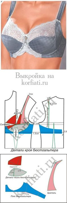 Bra pattern from Anastasia Korfiati Sewing Bras, Sewing Lingerie, Sewing Clothes, Diy Clothes, Underwear Pattern, Lingerie Patterns, Fashion Sewing, Diy Fashion, Pdf Sewing Patterns