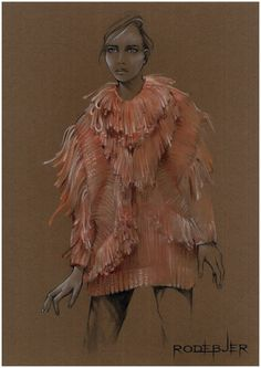 Yana-Protasova-Rodebjer-Fall-2013 - tan paper and knitwear texture, lovely!