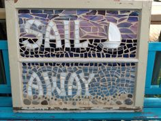 "Mosaic window - ""Sail Away"" (Amy's Mosaics)"