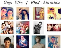 """""""Guys I Find Atttactive"""" by jackharriesismine ❤ liked on Polyvore"""