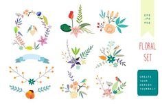 Big Vintage Floral Collection by Lera Efremova on @creativemarket