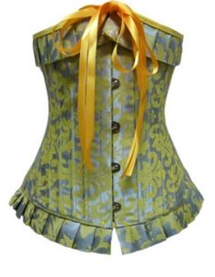 This corset has a Victorian look and the color combo is nice...