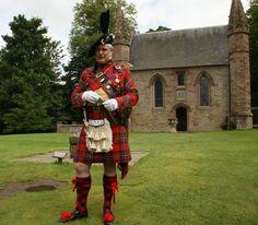 Sir Evan Macgregor Murray at Scone Palace in Perth, Scotland.