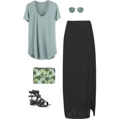 Untitled #621 by sydneydeleonofficial on Polyvore featuring Boohoo, Emma Cook, Ray-Ban and maxi.