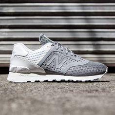 69949bad7bb5 New Balance Men 574 Re-engineered Breathe MTL574MG gray white New Balance  Shoes