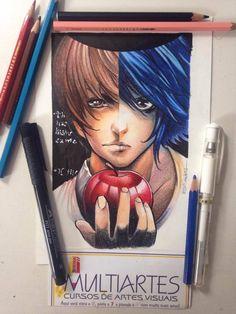 Drawing Death Note  completed  . Art by -Edi Santos Ilustrações