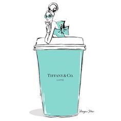 Monday #coffee in a #Tiffany blue Óticas Wanny. ᎾᎢᏆᎷᎪ ᏚᎬᎷᎪNᎪ! #happymonday #oticaswanny