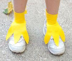 Tick Trick Track Kostüm selber machen Füße   Kostüm-Idee zu Karneval, Halloween & Fasching