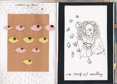 """nearlycurtainss: """" new journal pages from confessional xx """" really lovely colours!!"""