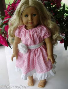 PACountryCrafts: Boutique Peasant (Doll) Dress Tutorial