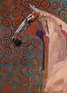 SOLD The Sentinel 40 x 30 acrylic on canvas Tracy Miller Fine Art Gallery Manitou Springs,, CO