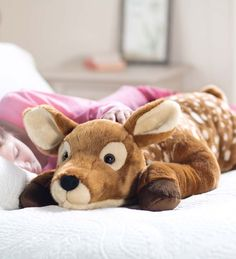 Fuzzy Spotted Fawn Body Pillow | Gifts For Pets & Pet Lovers