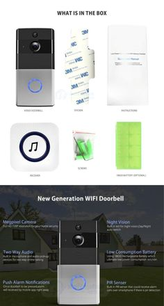 You can see who's at the door and monitor your home when you're not there with this video doorbell. Intercom, Electronics Gadgets, Night Vision, Monitor, Home And Garden, Website, Electronic Devices, Tech Gadgets