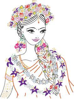 #gayeholud #bengalibride #flowercrown #sarahdrawsketches