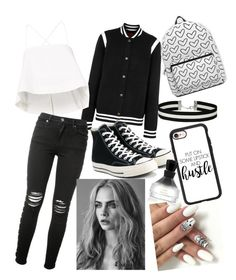 """""""Black and white"""" by undercover-fangirl ❤ liked on Polyvore featuring Givenchy, A.L.C., AMIRI, Converse, Miss Selfridge, Casetify and Oribe"""