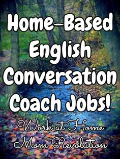 Home-Based English Conversation Coach Jobs! / Work at Home Mom Revolution Earn Money From Home, How To Get Money, Virtual Jobs, Teaching English Online, Finance Jobs, Event Planning Business, Business Ideas, Online Tutoring, Quitting Your Job
