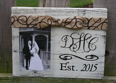 Monogram Wood Block Picture Frame-Great Wedding by GOalphabetsoup