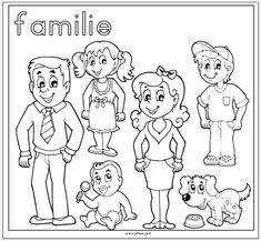 coloring my family drawing – Coloring Kids Family Coloring Pages, Preschool Coloring Pages, Cartoon Coloring Pages, Coloring Book Pages, Coloring Pages For Kids, Kids Coloring, Coloring Sheets, Colouring, Family Clipart