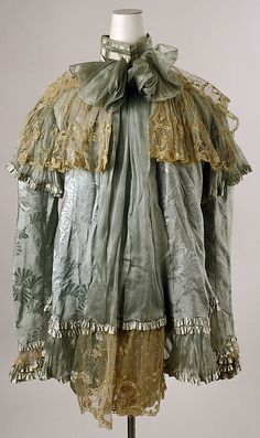 ~Dressing jacket Date: late 1890s Culture: probably American Medium: silk~