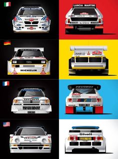 Gruppo B Sport Cars, Race Cars, Carros Suv, Rallye Paris Dakar, Audi Motorsport, Automobile, Rally Raid, Lancia Delta, Car Illustration