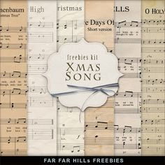 Freebies Kit of Note Sheets:Far Far Hill - Free database of digital illustrations and papers