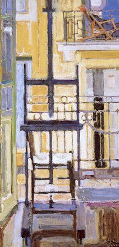 "huariqueje: "" Atelier - Tetsis Panagiotis, Greek, Oil on canvas "" Painter Artist, Artist Painting, Greek Paintings, Street Art, Post Impressionism, 10 Picture, Classical Art, Gravure, Conceptual Art"