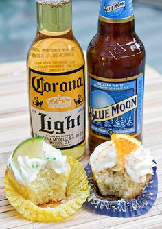 Beer Cupcakes ... perfect for my welcome home surprise BBQ ;) @April Cochran-Smith Hunt