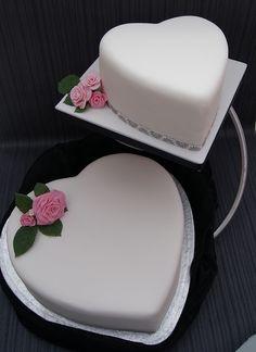 Hearts Wedding Cake | Flickr - Photo Sharing!