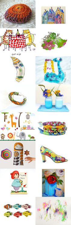 Gift Ideas full colors ¸.•*¨`*• ❤ by Nancy Ottati from RevesCreazioni on Etsy--Pinned with TreasuryPin.com