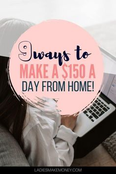 9 Side Hustle Jobs That Will Make You $150 A Day Working from Home. Simple side hustle ideas to make extra cash at home! NEED MONEY NOW? Learn how to make money fast with these creative ways to make money! And there are cool ideas you've never heard of before! These are REALLY the best ideas to make $150 dollars a day! #makemoneyonline #makeextramoney #sidehustle #workfromhome #earnmoney Make Money Fast Online, Make Money Blogging, Make Money From Home, Way To Make Money, Online Work From Home, Work From Home Moms, Need Money Now, Teaching English Online, Working Mom Tips