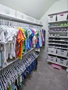 Organized Kid's Closet - Adjustable shelving that grows with your child's changing storage needs.