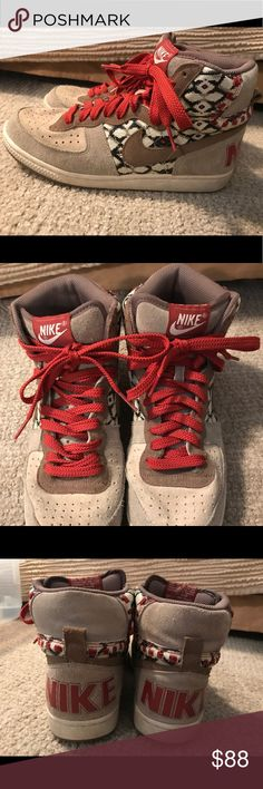Nike Women's High Tops- Unlimited Edition Indian print, Nike women's high tops, sold out everywhere and they do not make them anymore, thy are extremely comfy and only been worn a couple times. Nike Shoes Sneakers