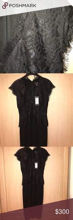 NWT 💃🏿TED BAKER LACE BODICE DRESS NWT $325. 1st photo seen in white lace but my dress is all black. Easier to see detailing in white. I️ Ended up wearing another dress and didn't return this. Lined. Zipper back. Size 0. Mid length. Ted Baker London Dresses Midi