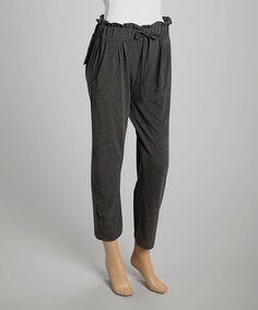 Loving this Gray Sabina Lounge Pants on #zulily! #zulilyfinds