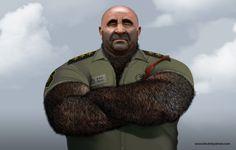 Captain Recio (Portrait).