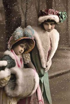vintage winter postcards | My Vintage Studio: Winter Images ~ Cabinet Cards