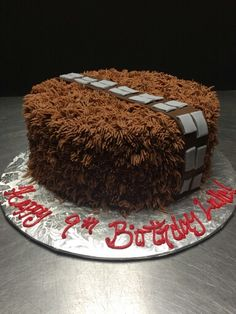 Chewbacca star wars cake