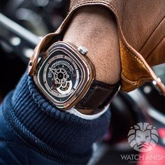 watchanish:  New SevenFriday model released! The P3/2 is modelled after the classic Riviera raving boats and has a solid Canadian Wood outer...