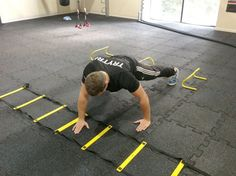 30 minute workout: agility ladder - I want their gym and equipment!