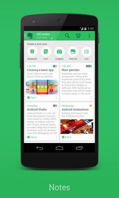 Signa Android UI Design Community — New Evernote by 30PP0