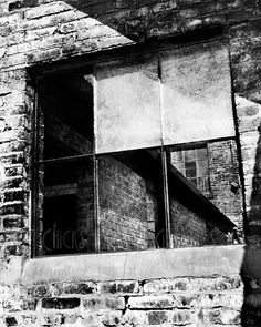 Industrial Photography Print - Window Panes Frame Building Angles - Black and White Fine Art Photograph - Wall Art Pin Up Photography, Urban Photography, Window Pane Frame, Industrial Photography, Urban Looks, Cityscapes, Perspective, Aesthetics, Fine Art Prints